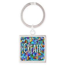Create - inspiring words Keychains