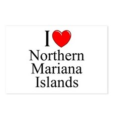 """I Love Northern Mariana Islands"" Postcards (Packa"