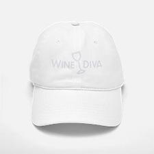 Wine Diva silver2 Baseball Baseball Cap
