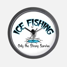 Ice Fishing Wall Clock