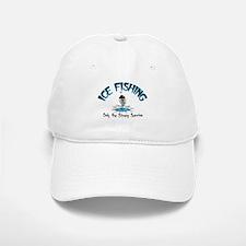 Ice Fishing Baseball Baseball Cap
