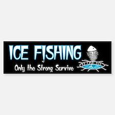 Ice Fishing Bumper Bumper Bumper Sticker