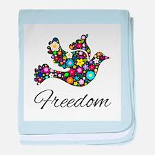 Freedom Bird baby blanket