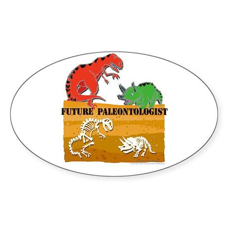 Future Paleontologist Oval Sticker