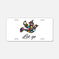 Let Go Bird Aluminum License Plate