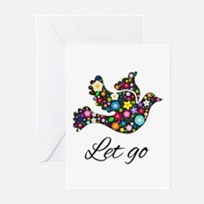 Let Go Bird Greeting Cards