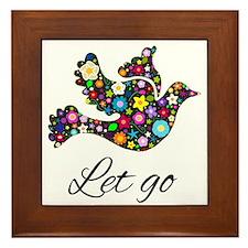 Let Go Bird Framed Tile