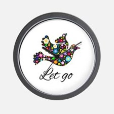 Let Go Bird Wall Clock