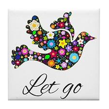 Let Go Bird Tile Coaster