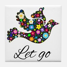Let Go Bird Tile Coaster