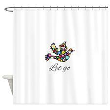 Let Go Bird Shower Curtain