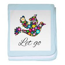 Let Go Bird baby blanket