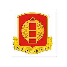 """34th Field Artillery Square Sticker 3"""" x 3"""""""