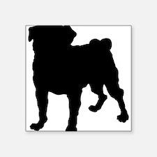 Pug Silhouette Sticker