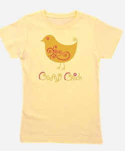 craftychickorgpink Girl's Tee