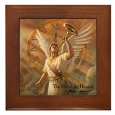 "Angel ""Midnight Herald"" Fine Art Framed Tile"