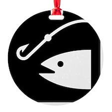 FishingBroke Black Ornament