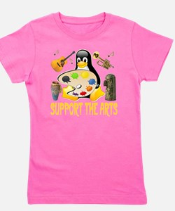 support_the_arts_penguin_collage_transp Girl's Tee