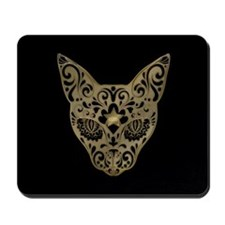 Golden printed color Egyptian style mystical cat M