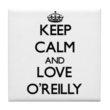 Keep calm and love O'Reilly Tile Coaster