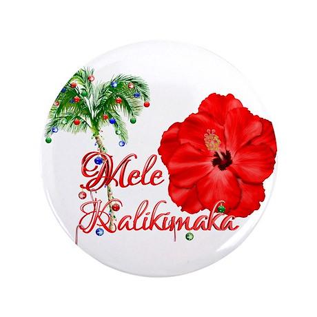 """Mele Kalikamaka 3.5"""" Button (100 pack)"""