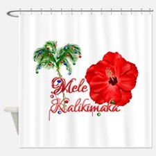 Mele Kalikamaka Shower Curtain