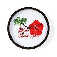 Mele Kalikamaka Wall Clock
