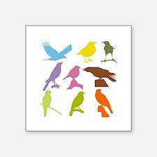 Colorful Birds Silhouette Sticker