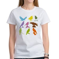 Colorful Birds Silhouette T-Shirt