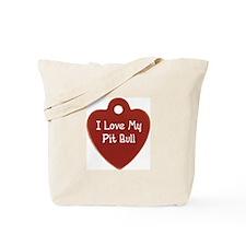 Pit Bull Tag Tote Bag