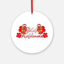 Mele Kalikamaka Tiki Ornament (Round)