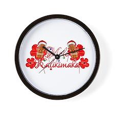 Mele Kalikamaka Tiki Wall Clock