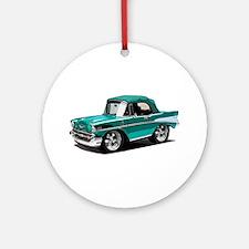 BabyAmericanMuscleCar_57BelR_Green Ornament (Round