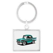 BabyAmericanMuscleCar_57BelR_Green Keychains