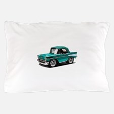 BabyAmericanMuscleCar_57BelR_Green Pillow Case