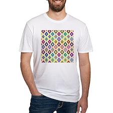 Bright Pink Teal Ethnic Ikat Diamon Shirt