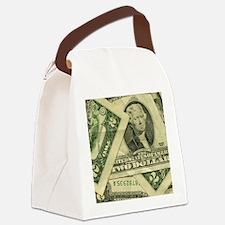 tw-dollar-bill-button Canvas Lunch Bag