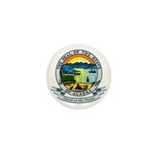 Alaska Seal Mini Button