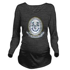 Connecticut Seal Long Sleeve Maternity T-Shirt