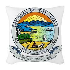 Alaska Seal Woven Throw Pillow