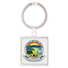 Alaska Seal Square Keychain