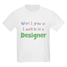 When I Grow Up Designer Kids T-Shirt