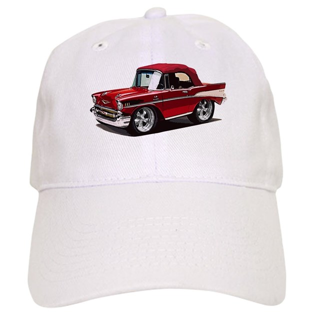 Babyamericanmusclecar 57belr red baseball cap by for Kitchen colors with white cabinets with muscle car stickers