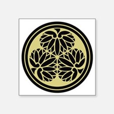 "Tokugawa Family Crest Square Sticker 3"" x 3"""