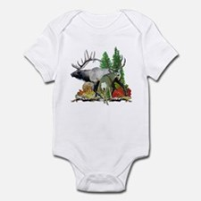 Bull elk buck deer Infant Bodysuit