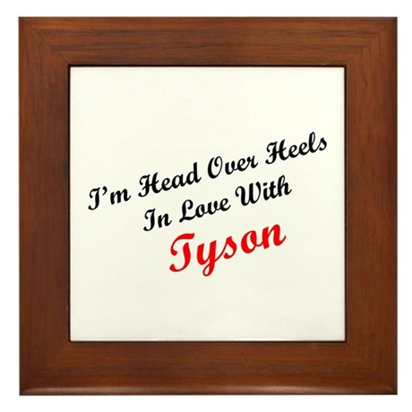 In Love with Tyson Framed Tile