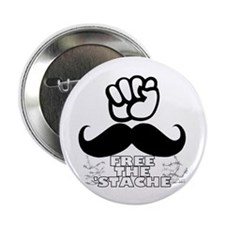 Free The Stache 2.25&Quot; Button