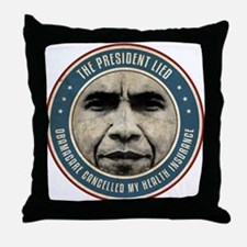 The President Lied Throw Pillow