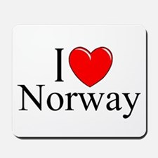 """I Love Norway"" Mousepad"