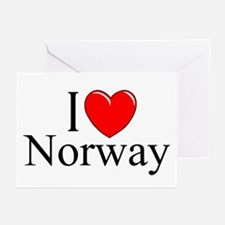 """""""I Love Norway"""" Greeting Cards (Pk of 10)"""